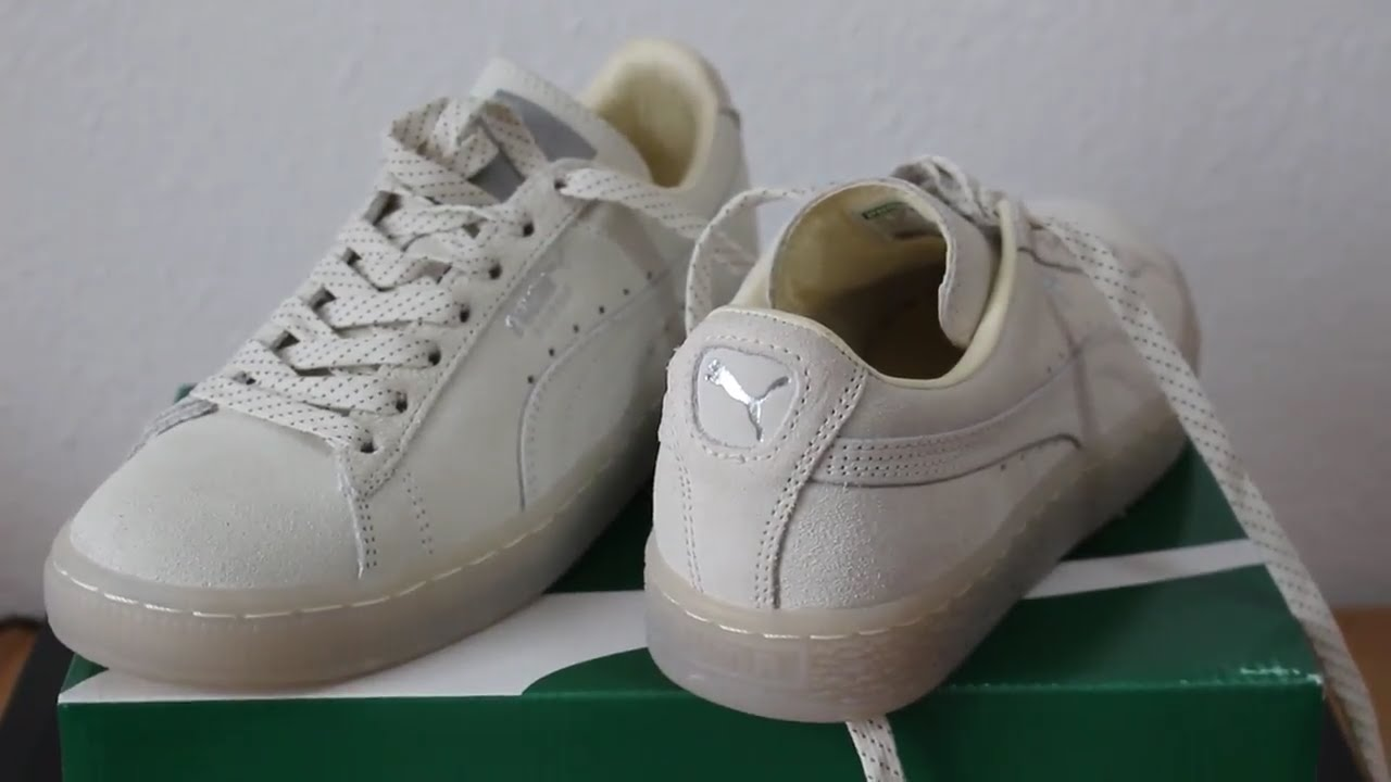 half off e10cd 9f4c5 Unboxing and Review of Puma Suede Classic Mono Ref Iced