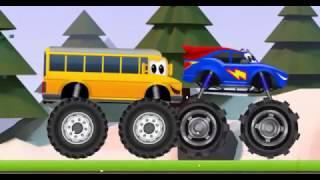 ГОНКИ НА МОНСТР ТРАКАХ! Мультик мультфильм про машинки гонки для мальчиков 1 2 3 4 5 лет.