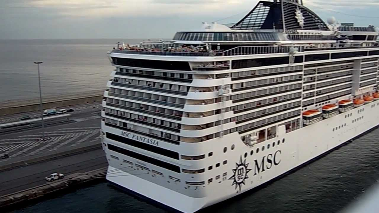 Msc Splendida Msc Fantasia in Barcellona - Best Horn ...