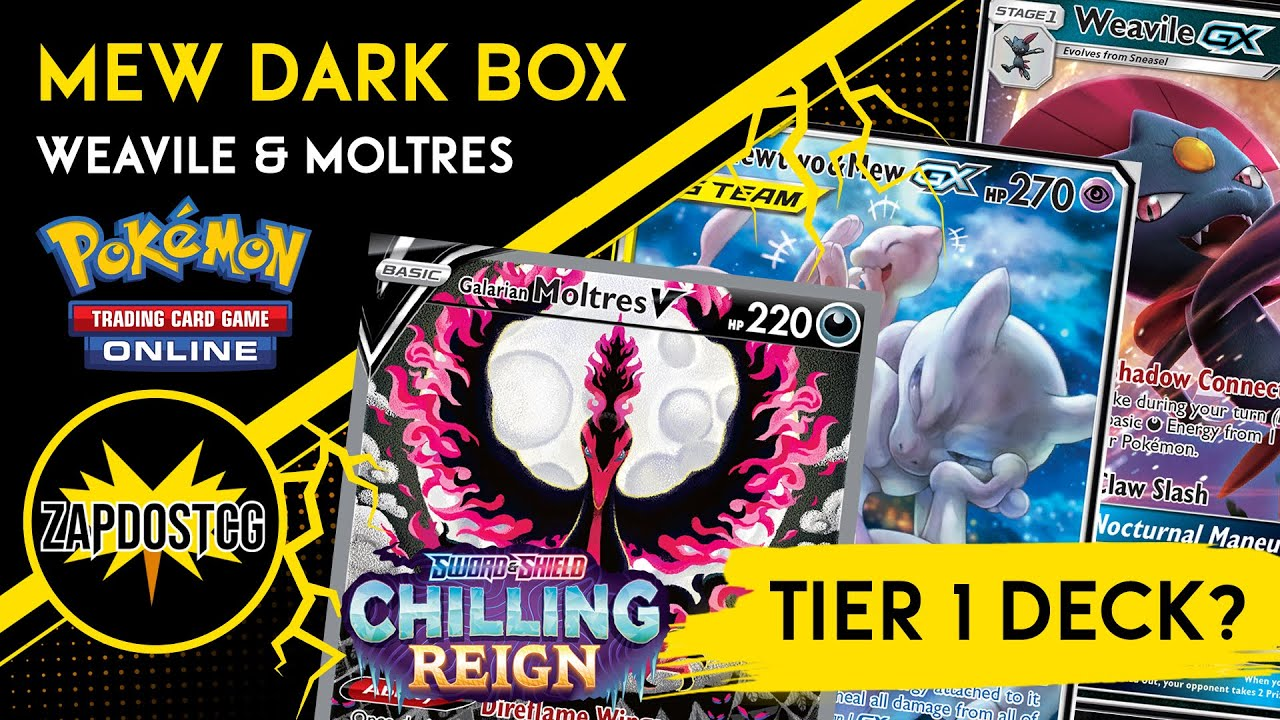 Download MewMew Dark Box Deck Is Broken With Galarian Moltres V from Chilling Reign (Pokemon TCG)