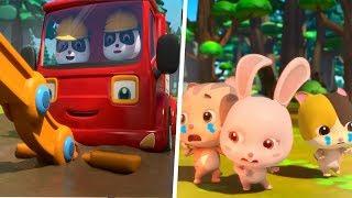 森が火事になっちゃった!消防車&救急車出動!動物たちを助けよう| 赤ちゃんが喜ぶアニメ | 動画 | BabyBus thumbnail