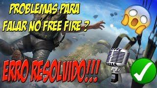 COMO FALAR NO FREE FIRE - SOLUÇÃO !!!