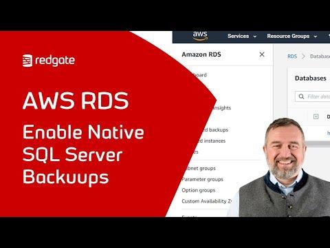 Native SQL Server Backups In AWS RDS