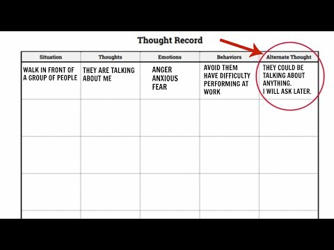 HOW TO CHANGE YOUR MOOD | THERAPY WITH ME: CBT THOUGHT RECORD