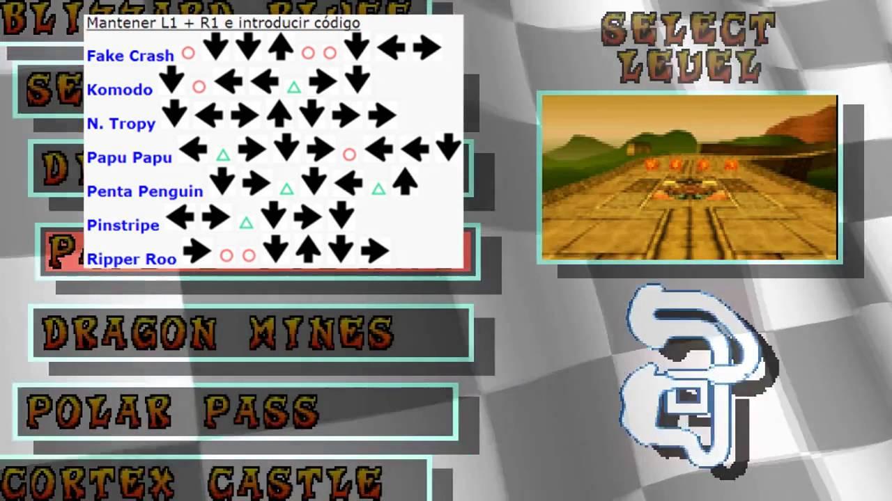 Trucos para desbloquear personajes en crash team racing (papu papu ...