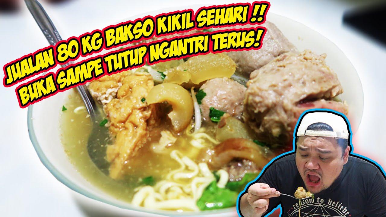 BAKSO TITOTI TERENAK & TERKENAL DI JAKARTA !! SEHARI LUDES 80 KG BAKSO KIKIL !!