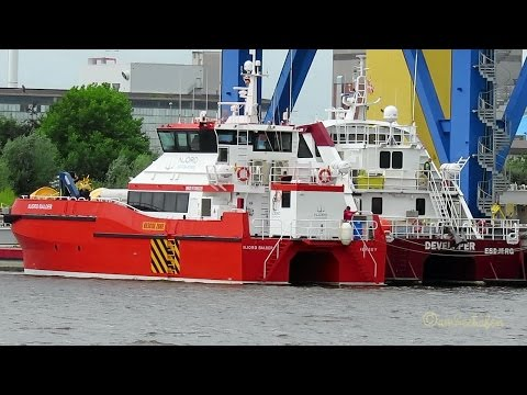 offshore supply vessels NORD BALDER 2JKA5 IMO 9768629 & DEVELOPER OWPI2 IMO 9717541