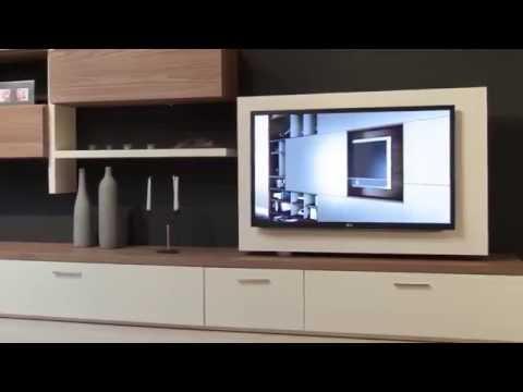 Стенка в гостиную с поворотом TV