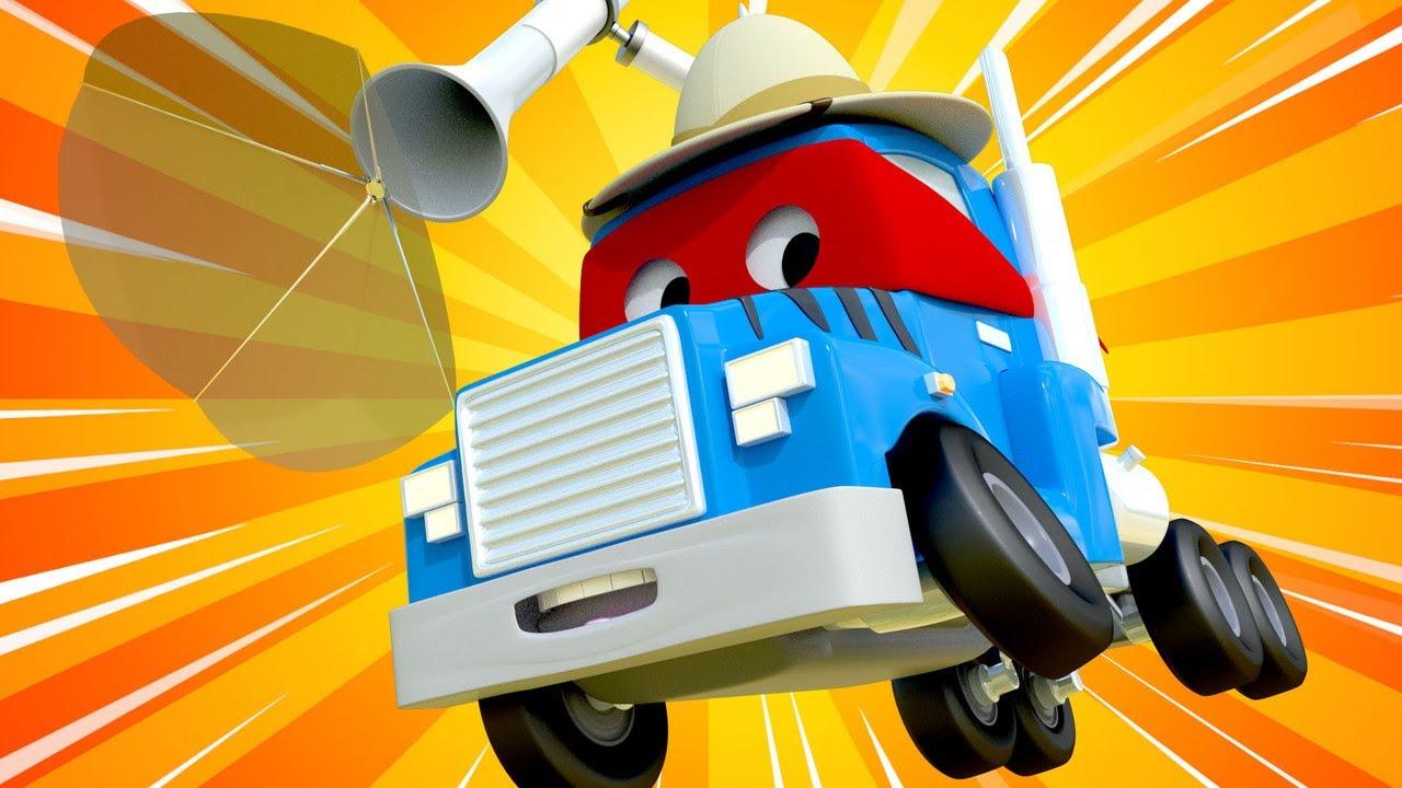 desene cu camioane pentru copii -  Special de ziua leului - Detectivul animal
