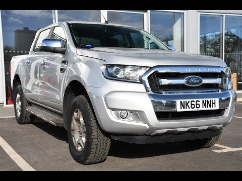Used Ford Ranger Pick Up Double Cab Limited 2 Tdci Moondust Silver 2017