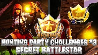 SECRET BATTLESTAR LOCATION! Week 3 Hunting Party Challenges (Fortnite Season 6)