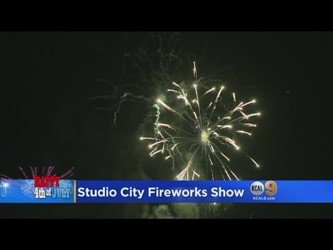 Fourth Of July Party, Fireworks Show Held On CBS Studio City Lot