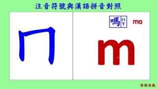 ㄅㄆㄇ注音符號與漢語拼音對照 - Tranditional Chinese Pinyin & China Pinyin Reference