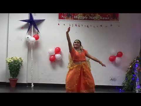 dance on sarvesha naamam namo by Jesline in Subroto park on Christmas