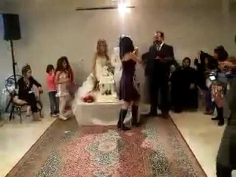 Persian Girls Dancing At A Wedding Tehran Iran Knife Dance