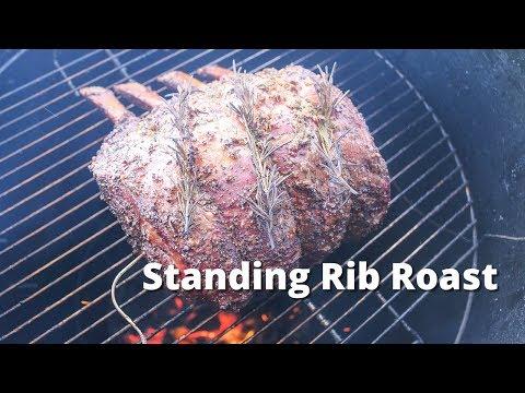 Standing Rib Roast | Bone In Prime Rib Roast Smoked On UDS Smoker