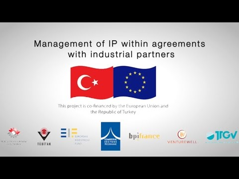 Management of IP within agreements with industrial partners