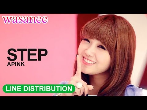 Apink - Step - Line Distribution (Color Coded Image)