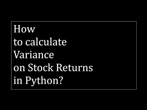 how-to-calculate-variance-on-stock-prices-in-python?
