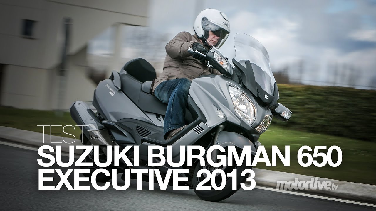test suzuki burgman 650 executive 2013 youtube. Black Bedroom Furniture Sets. Home Design Ideas