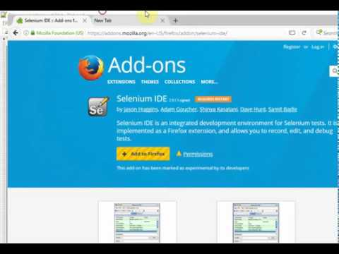Automation Tutorial 2 - Configure selenium IDE for Firefox - Foundation  video
