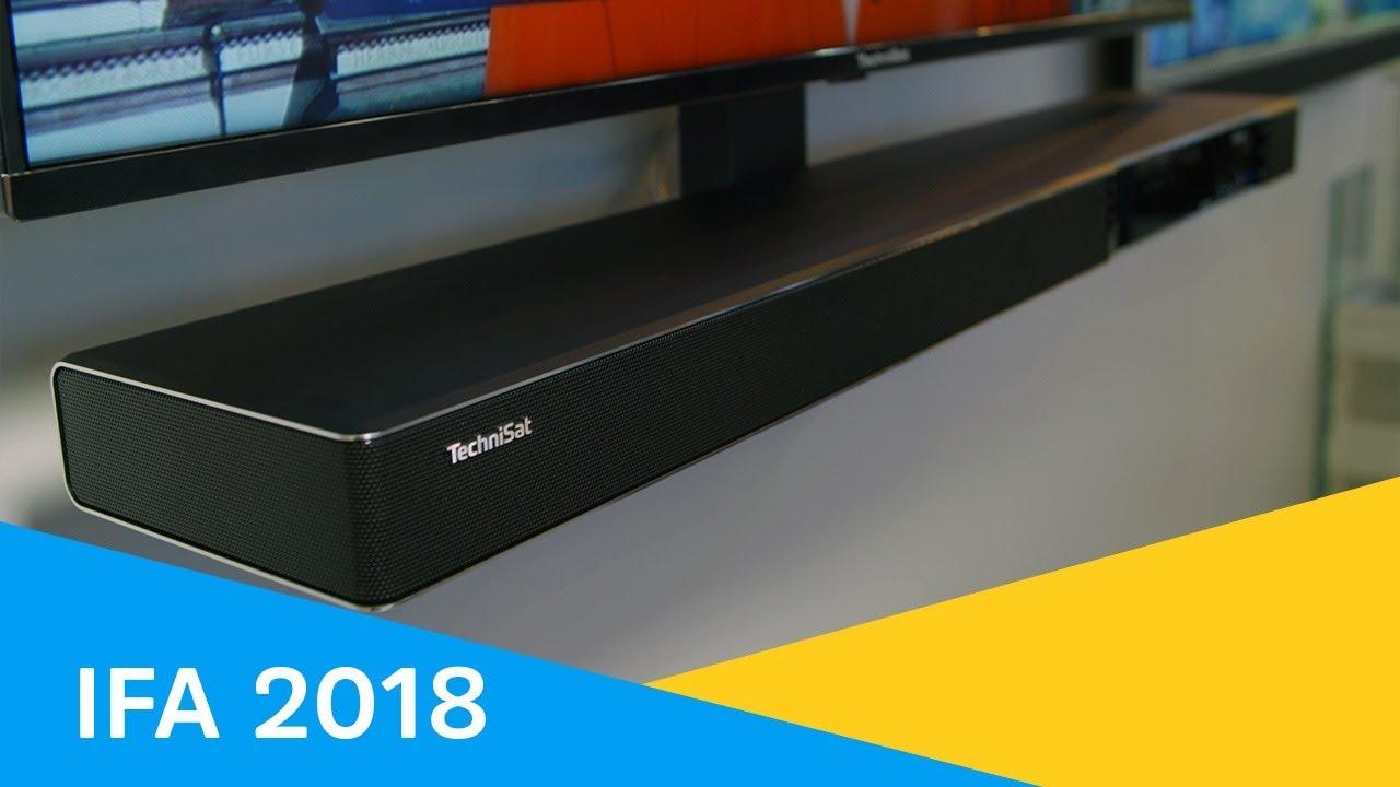 Video: IFA 2018 | Bild und Ton werden eins. Sonata 1. Ultra HD Receiver und Soundbar | TechniSat