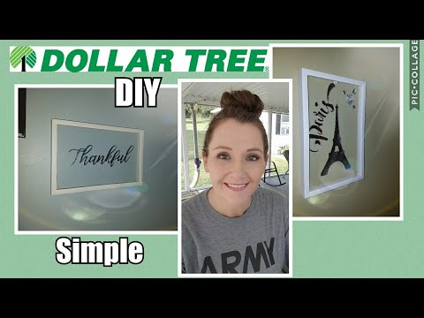 Wall Art~Easy Dollar Tree DIY