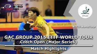 Czech Open 2015 Highlights: JANG Woojin vs SHIBAEV Alexander (R 1)