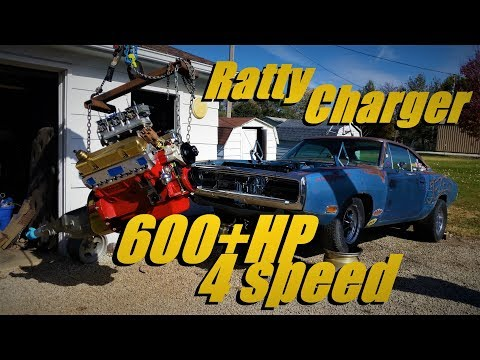 Ratty Charger Jezebel 500ci Big Block 4 Speed Installation! BUILD Pt 11