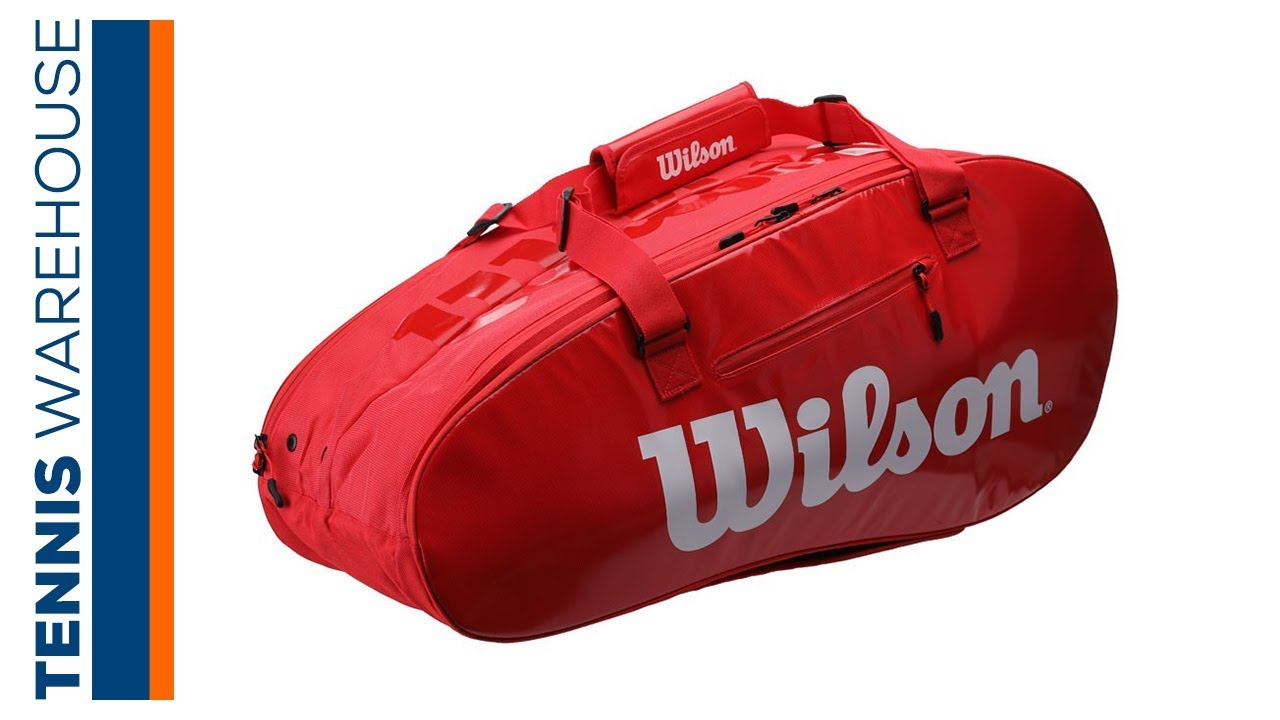 43e6a5cd11 Wilson Super Tour 2 9 Pack Tennis Bag (2 Compartments) - YouTube