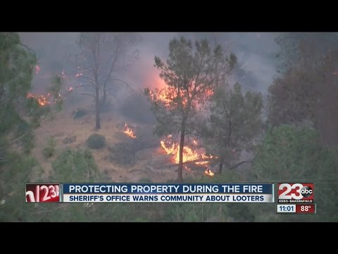 Protecting property during the fire