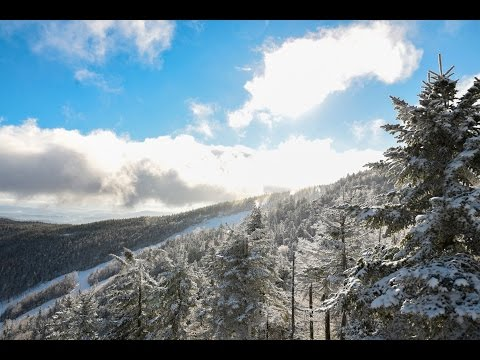 Glade Skiing at Sunday River - January 19 2017