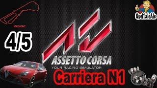 Assetto Corsa - Gameplay ITA - Logitech G27 - Carriera #04 N1 4/5 Gara Giulietta QV Magione