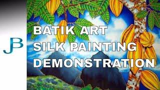 BATIK SILK PAINTING WITH JEAN-BAPTISTE - FINE ART -  PITONS, ST. LUCIA