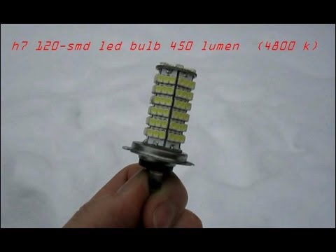 test h7 120 smd led bulb 450 lumen 4800k mp4 youtube. Black Bedroom Furniture Sets. Home Design Ideas
