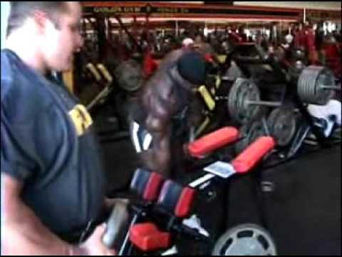 Tommi Thorvildsen hams & calves Gold's Gym Venice California