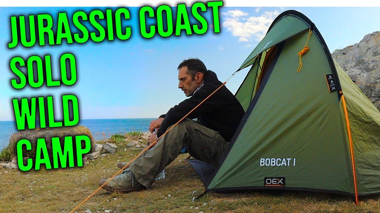 Solo wild camp jurassic coast | turning 50 in 2020 - YouTube