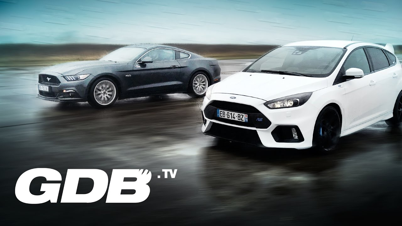 ford mustang gt vs ford focus rs youtube. Black Bedroom Furniture Sets. Home Design Ideas