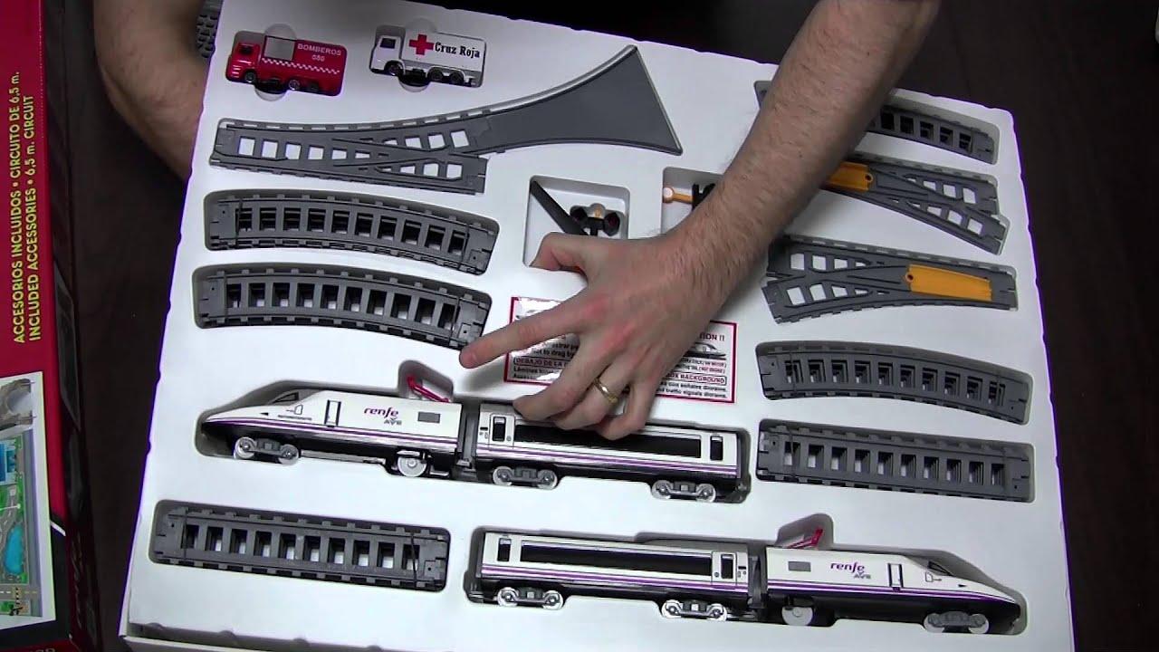 Juegos de trenes elctricos para nios Renfe Ave de Pequetren