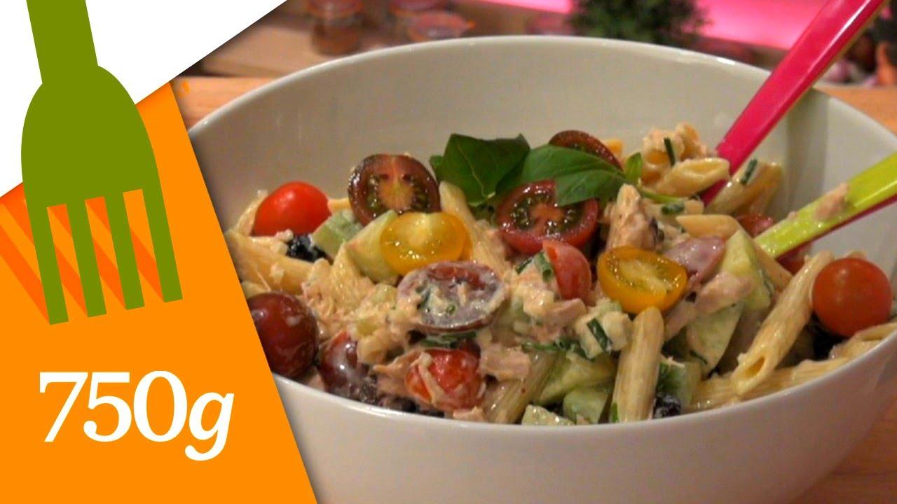 Recette De Salade De Pates 750g Youtube