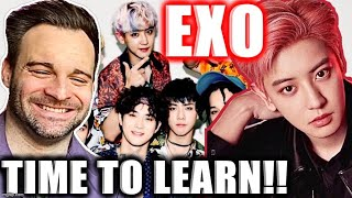 Reacting to EXO 엑소 - GROUP GUIDE! (By Cesar Oh) | VOCAL POWE…