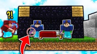 HILARIOUS BED DEFENSE STRATEGY! (Minecraft Bed Wars Trolling)