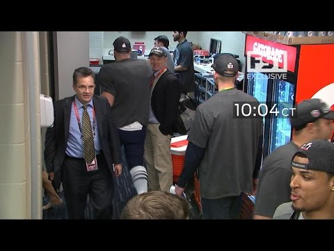 New video appears to show moment Tom Brady's Super Bowl jersey was taken