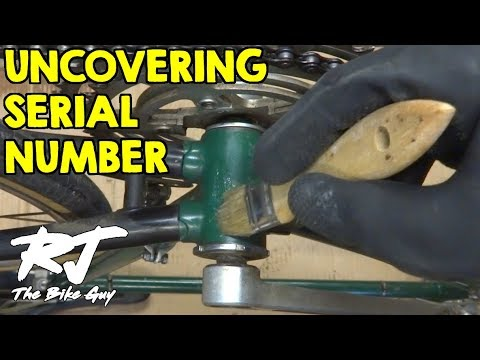 Finding And Revealing Bike Serial Number Hidden Under Paint - YouTube