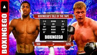 ANTHONY JOSHUA VS ALEXANDER POVETKIN Tale Of The Tape (BOXINGEGO FIRST LOOK) thumbnail