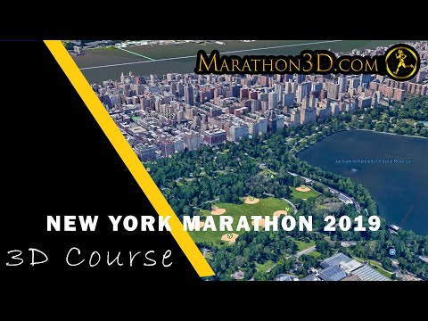 NEW YORK CITY MARATHON 2019. 3D Course