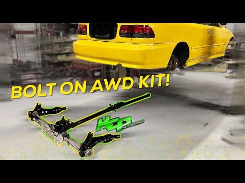 Pt.2 | LAMBO KILLER BUILD | 600HP AWD TURBO HONDA CIVIC | Bolt on Awd Setup!