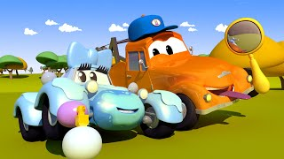 Малышка Кейти - Автомойка Эвакуатора Тома в Автомобильный Город 💧 детский мультфильм