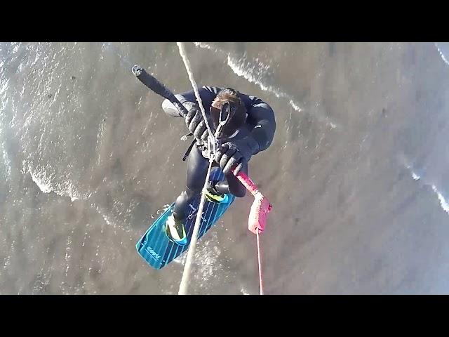 Kiteboarding Longniddry, Scotland 28.12.18
