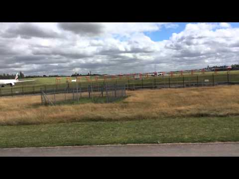 Planes at BHX (filmed at Marston Green) with ATC.